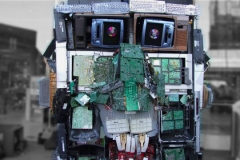 Junkotron the giant recycled robot head
