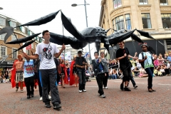 Giant spider puppet