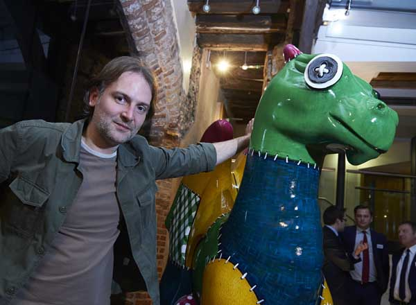 Matt Reeve with Patch the GoGoDragon