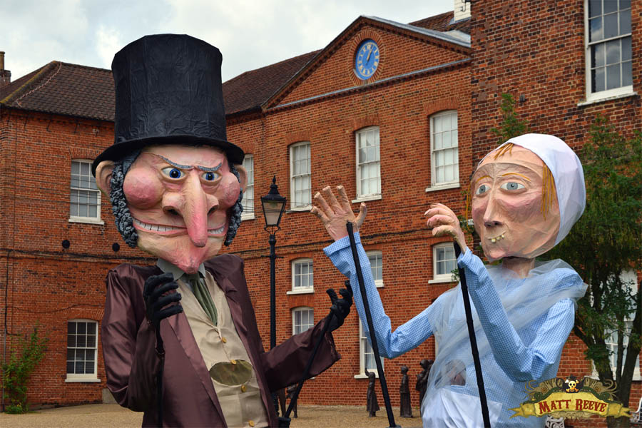 Giant puppets for Gressenhall