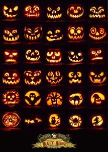 30 carved pumpkins