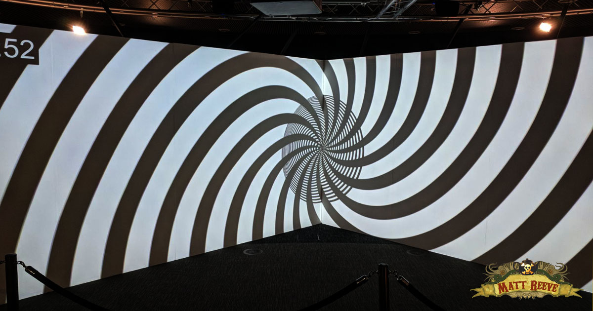 Swirling video projection